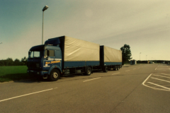 Transport camion double remorque